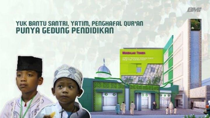 Patungan Bangun Gedung Santri, Yatim dan Hafidz