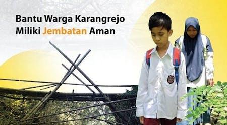 Cover Warga Karangrejo Butuh Jembatan Layak