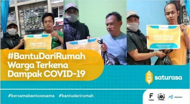 Cover #BantuDariRumah Warga Terdampak COVID19