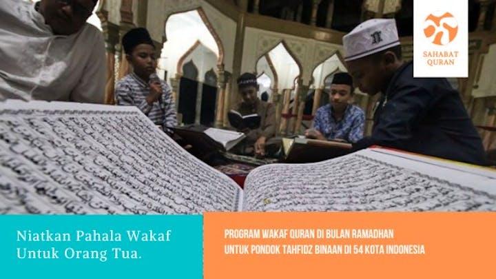 WAKAF AL-QUR'AN UNTUK PONDOK YATIM & PENGHAFAL QUR'AN, MASYARAKAT di PELOSOK NEGERI