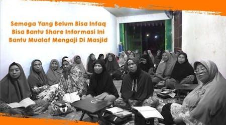 Cover Patungan Bantu Bangun Masjid Ismuhu Yahya Untuk Para Mualaf Belajar Islam